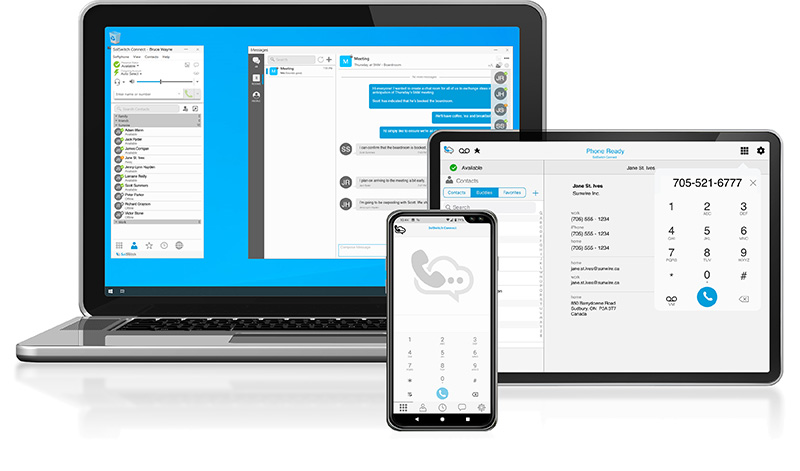 Sunwire On-Premise Business Phone Systems - SolSwitch Connect Desktop and Mobile App