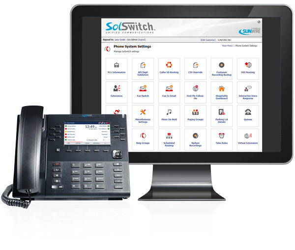 Sunwire On-Premise Business Phone Systems - Countless Fully-Customizable Features